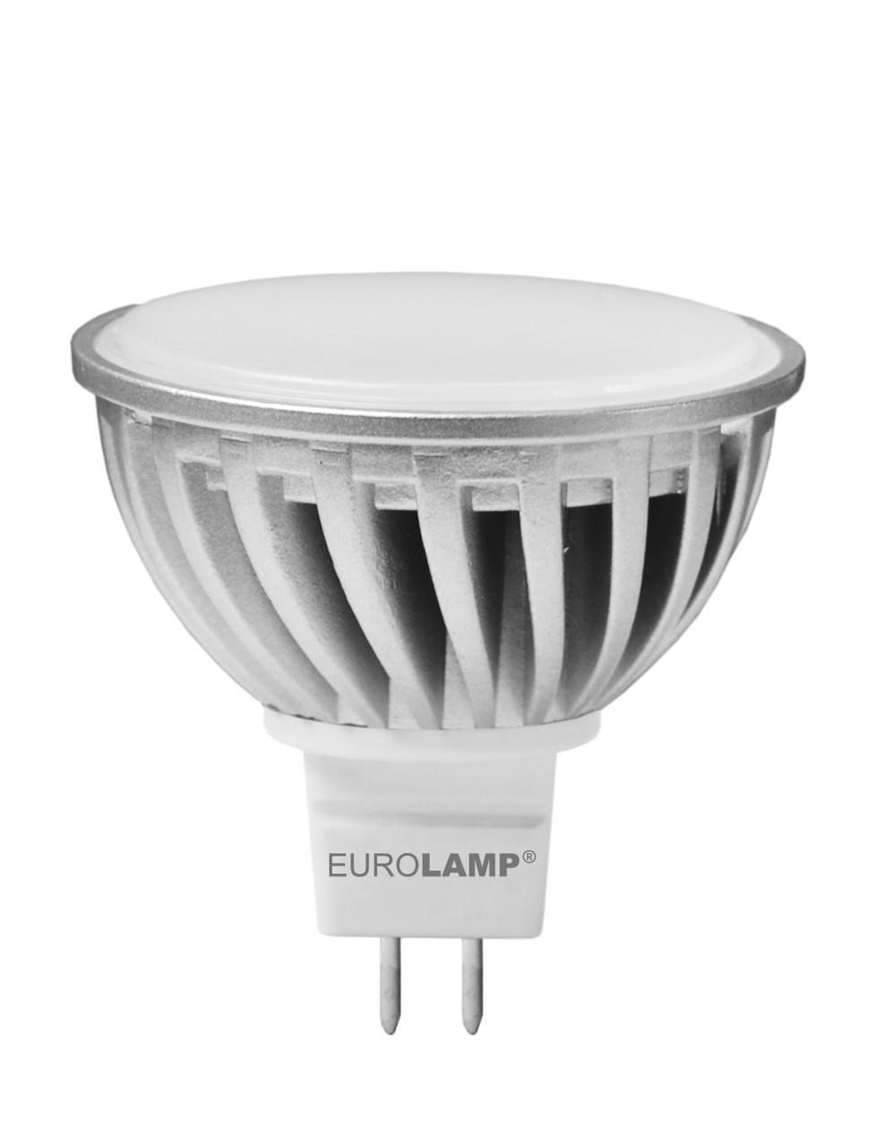 LED лампа GU5.3 12V  MR16 5,5W(425lm) 2700K  EUROLAMP Chrome