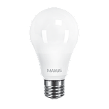 LED лампа Maxus A60 10W 3000K (950Lm) 220V E27. 2-LED-561-01. Акционная упаковка, фото 2