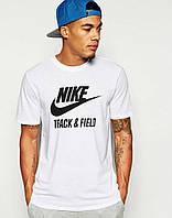 Брендовая футболка Nike, белая, летняя футболка найк, все размеры, ф1687