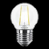 LED лампа MAXUS (филамент), G45, 4W, яргкий свет,E27 (1-LED-546) (NEW), фото 2