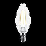 LED лампа MAXUS (филамент), C37, 4W, мягкий свет,E14 (1-LED-537) (NEW), фото 2