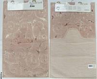 Набор ковриков для ванной и туалета  Arya Sarmasik розовый
