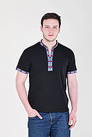 "Вышиванка футболка мужская ""Кум"" -синий (Л.Л.Л)"