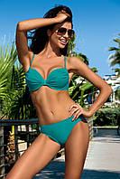 Раздельный женский купальник Solaris 304 24, 85C, XXL, полиамид 80%,эластан 20%, Раздельный купальник, Полиамид, Слип, бутылочный