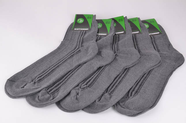 Мужские носки Житомир Серые р.44-45 (Y110/29)   10 пар, фото 2