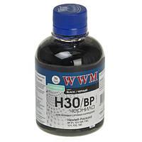 Чернила WWM HP 21/54/121/122/129/130/131/132/140/901, Black Pigment, 200 г (H30/BP)