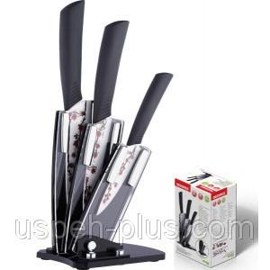 Набор керамических ножей на подставке Bergner BG 4100 - Интернет магазин Фортуна в Одессе
