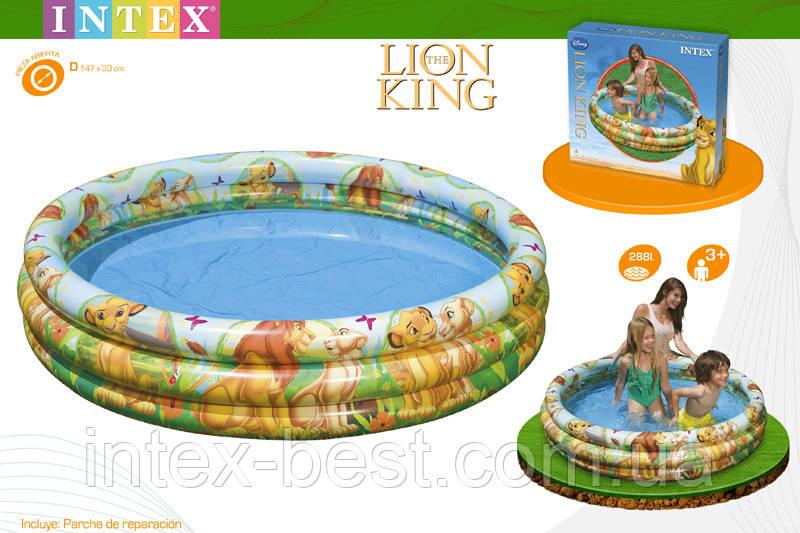 """Детский надувной бассейн """"Король лев"""" Intex 58420"""
