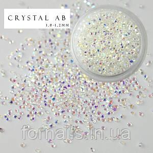 Хрустальная крошка Crystal AB (100 шт)