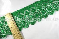 "Кружево макраме с кордом ""Ананас"", ширина 8см (цена за 10 ярдов ≈ 9,14 метра).Цвет зеленый"