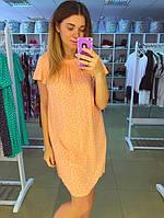 Желтое летнее платье с белыми сердечками
