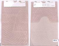 Набор ковриков для ванной и туалета  Arya  Yazgulu розовый