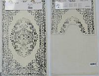 Набор ковриков для ванной и туалета  Arya  Venus кремовый с серым