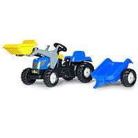 Трактор на педалях с прицепом и ковшом New Holland Rolly Toys 23929
