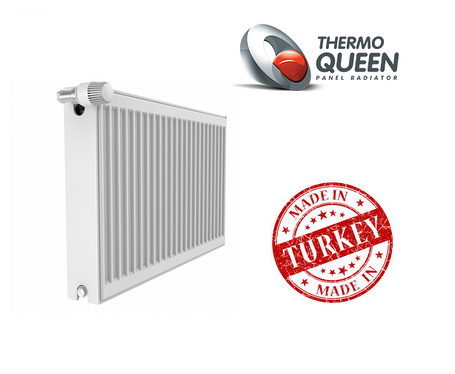 Стальной Радиатор отопления (батарея) 300x1300 тип 22 Thermoqueen (боковое подключение), фото 2