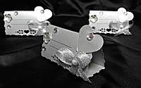 Рассадочная карточка ручной работы серебро