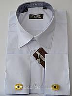 Белая рубашка под запонки для мальчика