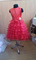 Детское Платье шикарное - роза   амбре