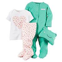 Комплект для новорожденной Carters Лягушонок, Размер 3м, Размер 3м