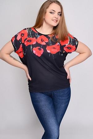 Женская футболка больших размеров Маки