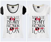 """Футболка 3D женская """"Minnie is fashion icon"""""""