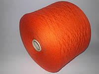 Пряжа LILU, 90%меринос шерсть, 10%-кашемир, оранжевый цвет, Италия