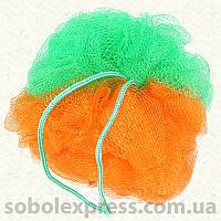 Мочалка-бант двухцветная 25 грамм
