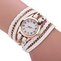 Женские наручные часы-браслет кварцевые Relogio модные белые