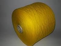 Пряжа LILU, 90%меринос шерсть, 10%-кашемир, желтый цвет,Италия