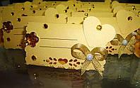 Рассадочная карточка ручной работы золото