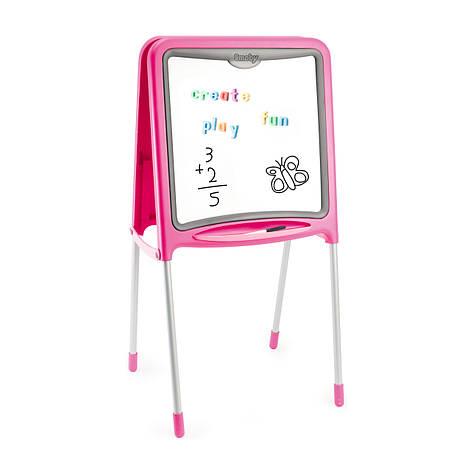 """Творчество и рукоделие «Smoby» (28109) двухсторонний мольберт """"Pink"""" на металлических ножках, 59 аксессуаров, 52х48х105 см, фото 2"""