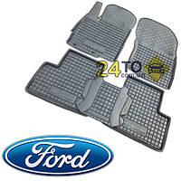 Автоковрики для FORD Transit (2013-...) 1+2 (Комлект в салон) (Avto-Gumm), Форд Транзит