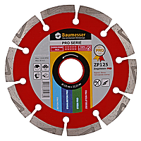 Круг алмазный отрезной по бетону 1A1RSS/C3-H 125x2,2/1,4x8x22,23-10 Baumesser Ziegelstein PRO Baumesser