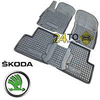 Автоковрики для SKODA Rapid (Комлект в салон) (Avto-Gumm), Шкода Рапид