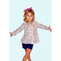 Блуза с розочками детская