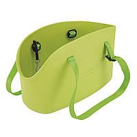 WITH-ME BAG зеленая Сумка-переноска для тварин, полімер 21,5*43,5* h 27 см