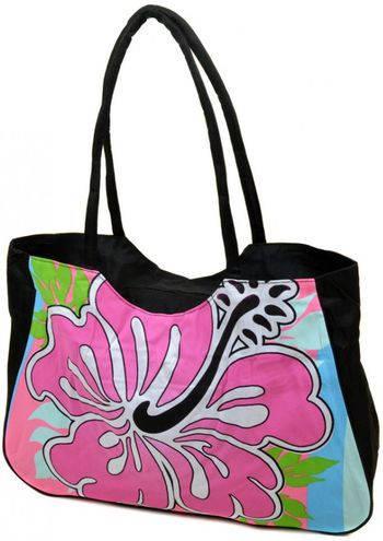 Вместительная сумка женская пляжная текстиль Podium 1331 black