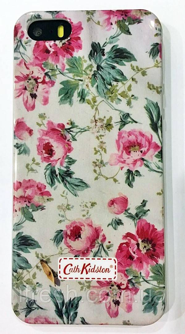 Чехол силиконовый FLOWERS для iPhone 5/5S, №5