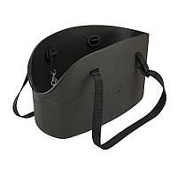 WITH-ME BAG  чорная Сумка-переноска для тварин, полімер 21,5*43,5*h 27 см