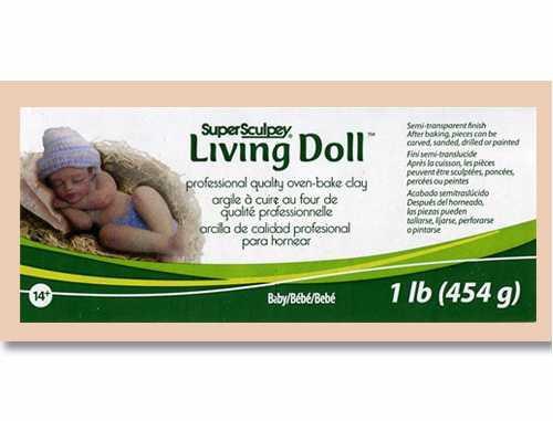 LivingDoll Ливинг Долл, цвет телесный Baby/Bebe, 227 г,пробник SuperSculpey (США)