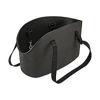 WITH-ME BAG SMALL чорная Сумка-переноска для  маленьких тварин, полімер 14*35*H22 см