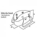 WITH-ME BAG SMALL серая Сумка-переноска для маленьких тварин, полімер 14*35*H22 см, фото 3