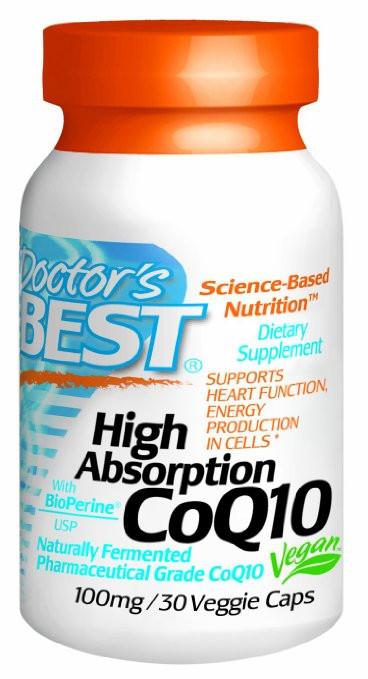 Коэнзим CoQ10, Doctor's Best, 100 мг, повышенной усваиваемости, 30 капсул. Сделано в США.