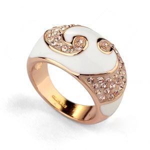 Кольцо БЭТТИ ювелирная бижутерия золото 18К декор кристаллы Swarovski