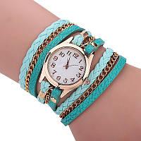 Женские наручные часы-браслет кварцевые Relogio модные бирюзовые (tiffany), фото 1
