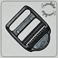 Пряжка регулировочная трехщелевая , ширина 25мм