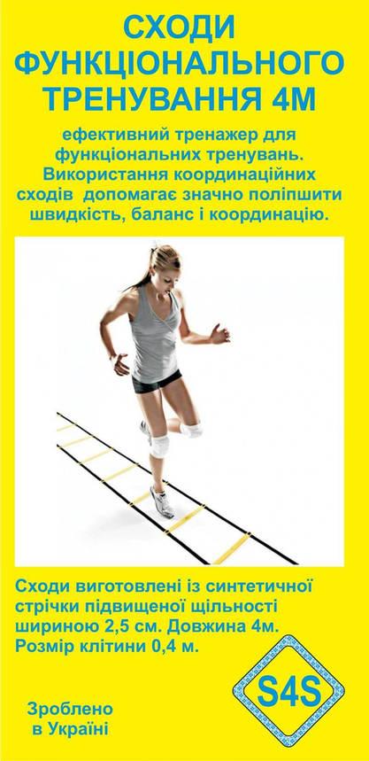 Координационная лестница двойная для функциональной тренировки 4 метра , фото 2
