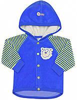 Кофта для мальчика:цвет -Синий,размер-62 см,1-3 мес