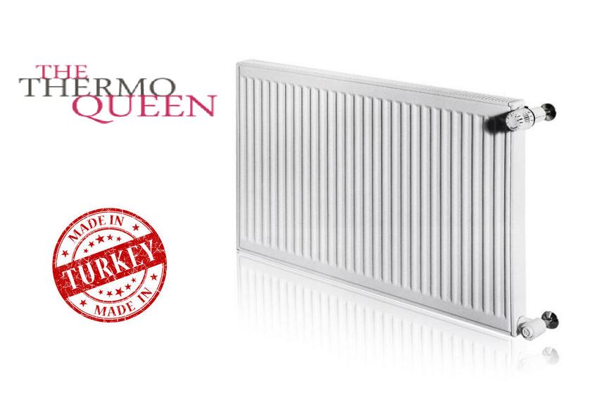 Стальной Радиатор отопления (батарея) 500x1200 тип 22 Thermoqueen (боковое подключение)