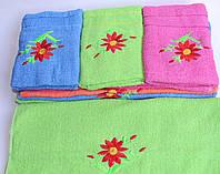 Полотенце банное махровое «Цветок» отличного качества, не прессованное